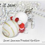Inspiration Cafe – Sweet Snowman Pendant Necklace
