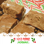 1-2-3 Fudge (Microwave) – Weekend Potluck 253
