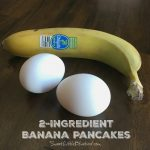 Easy 2-Ingredient Banana Pancakes