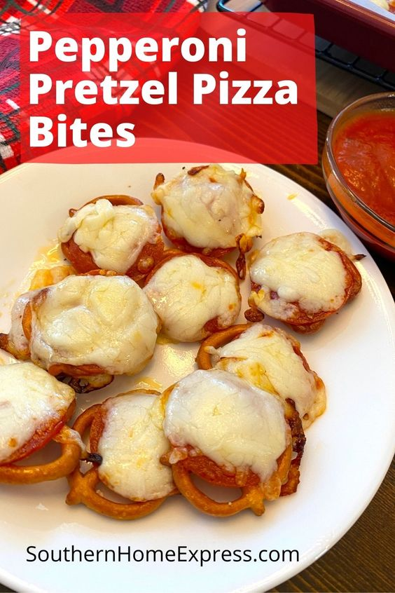 Pepperoni Pretzel Pizza Bites by Southern Home Express - WEEKEND POTLUCK 464