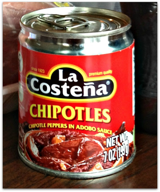 EASY SLOW COOKER SHREDDED BEEF TACOS - needed, a can of Chipotle Peppers in Adobo Sauce