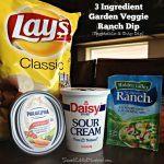 3 Ingredient Garden Veggie Ranch Dip