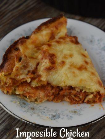 Impossible Chicken Parmesan Pie - Weekend Potluck 414