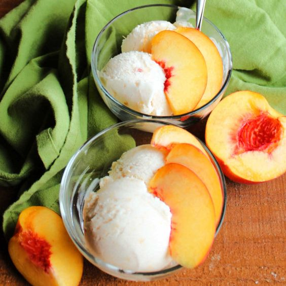 4 Ingredient Peach Ice Cram by Cooking with Carlee - Weekend Pot;luck 493