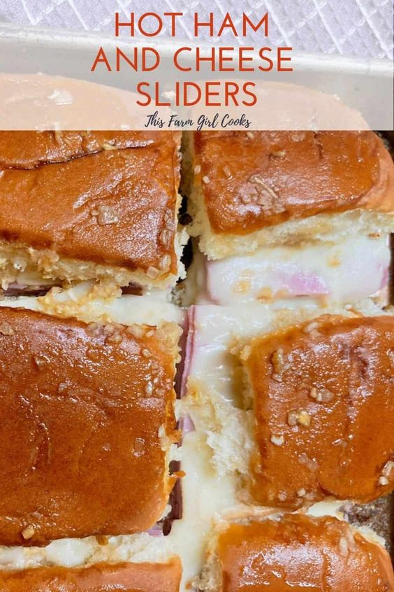 Funeral Sandwiches (Hot Ham and Cheese Sliders) by The Farm Girl Cooks - Weekend Potluck 476