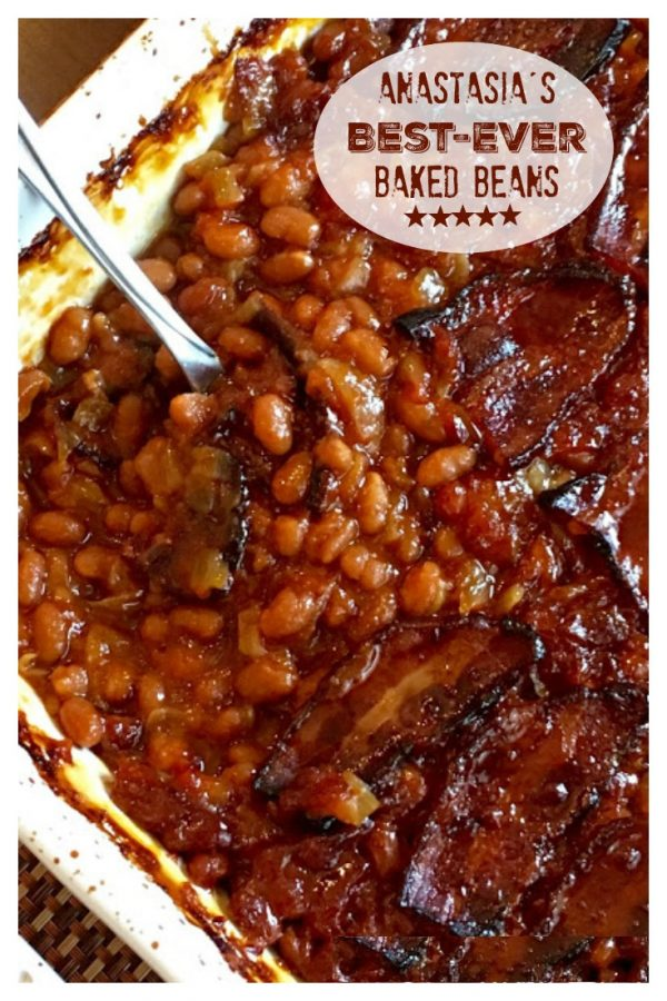 ANASTASIA'S BEST-EVER BAKED BEANS by Sweet Little Bluebird  (Weekend Potluck 436)