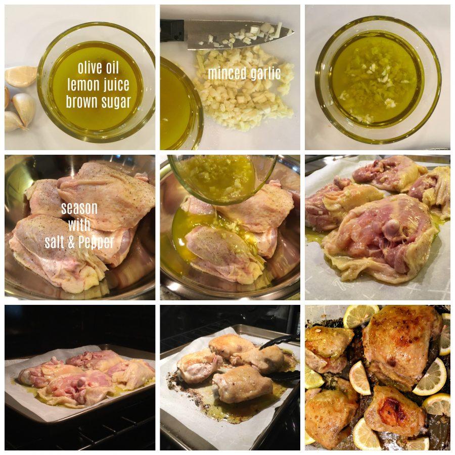 Easy Baked Lemon & Garlic Chicken Thighs