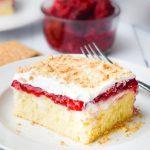 Berry Cheesecake Poke Cake – Weekend Potluck 415