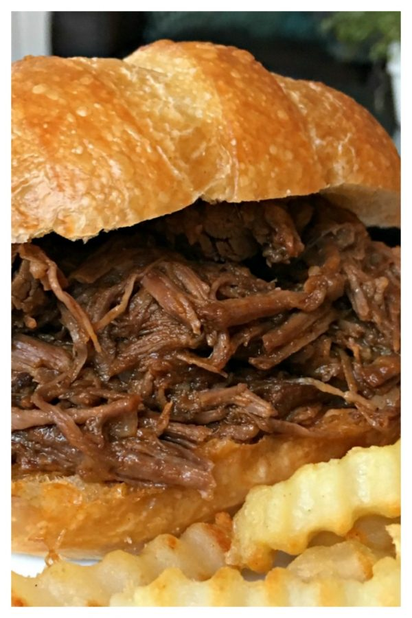 Best-Ever Slow Cooker Barbecue Beef Sandwiches from Sweet Little Bluebird