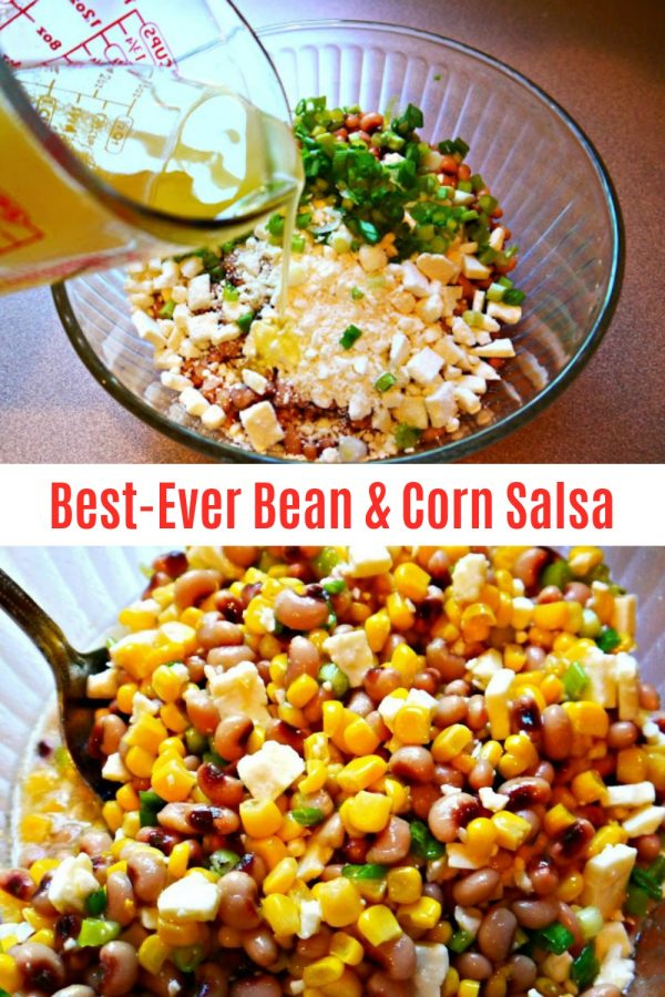 BEST-EVER BEAN & CORN SALSA (EASY) - Sweet Little Bluebird
