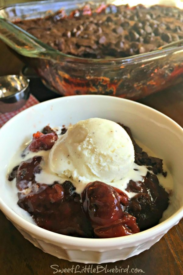 BLACK FOREST COBBLER (4 INGREDIENTS) - Sweet Little Bluebird
