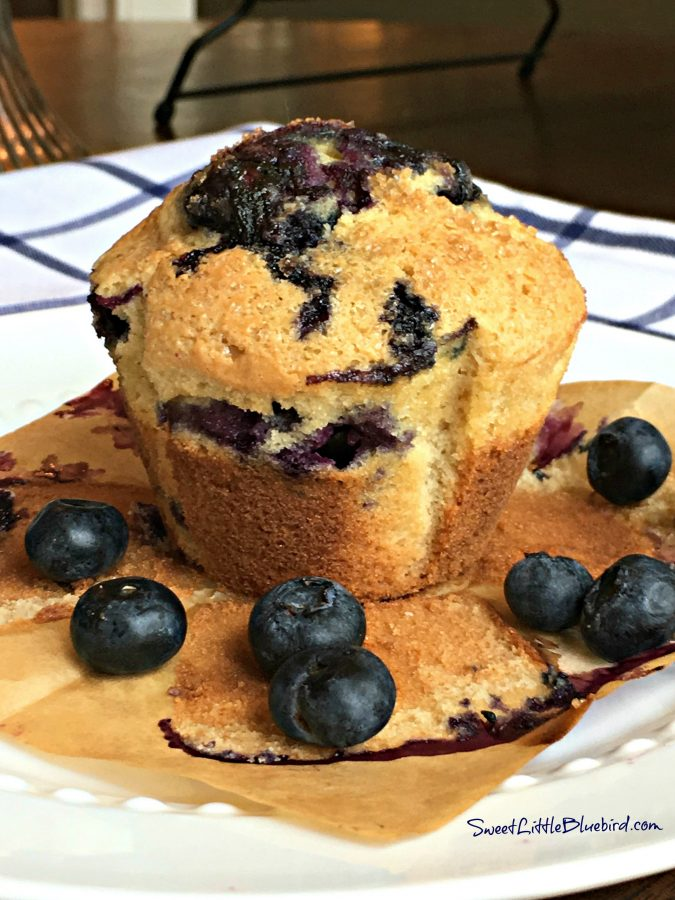 PERFECT BLUEBERRY MUFFINS RECIPE - Blueberry Sour Cream Muffins