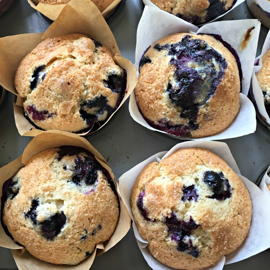 Perfect Blueberry Muffins - Blueberry Sour Cream Muffins