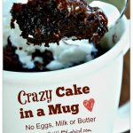 Crazy Cake in a Mug –  No Eggs, Milk or Butter, Ready in Minutes