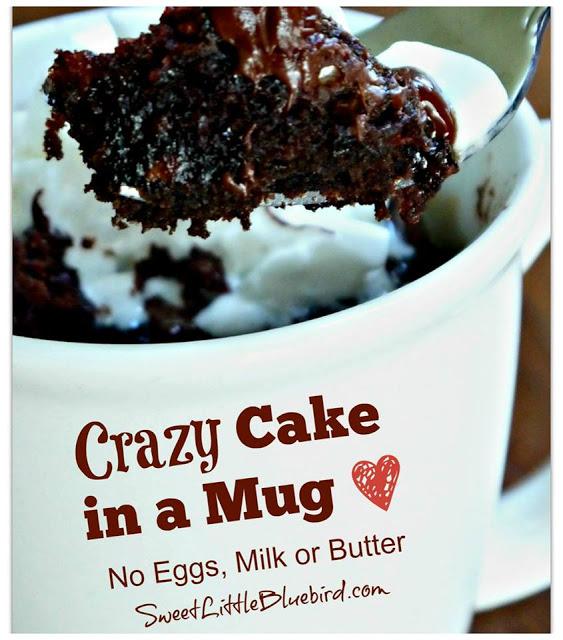 CRAZY CAKE IN A MUG - Sweet Little Bluebird