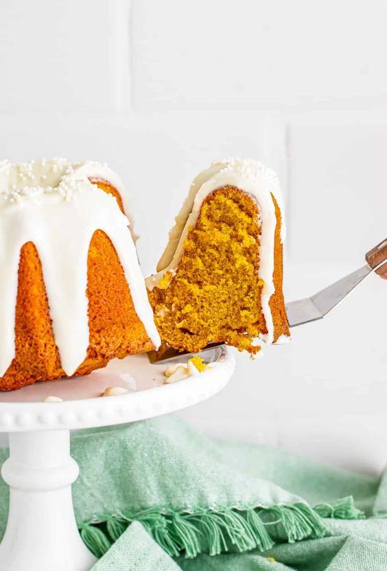 PUMPKIN AIR FRYER CAKE by Bakerish - Weekend Potluck 497