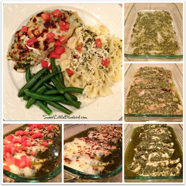a guide to cooking my version of cheesy pesto chicken pasta My favorite version is made with arugula but i thought that may  while the  chicken is cooking, add pistachios, basil, parsley, garlic and cheese.