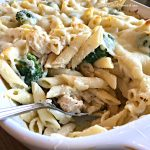 Chicken-Alfredo  Baked Penne (Easy)