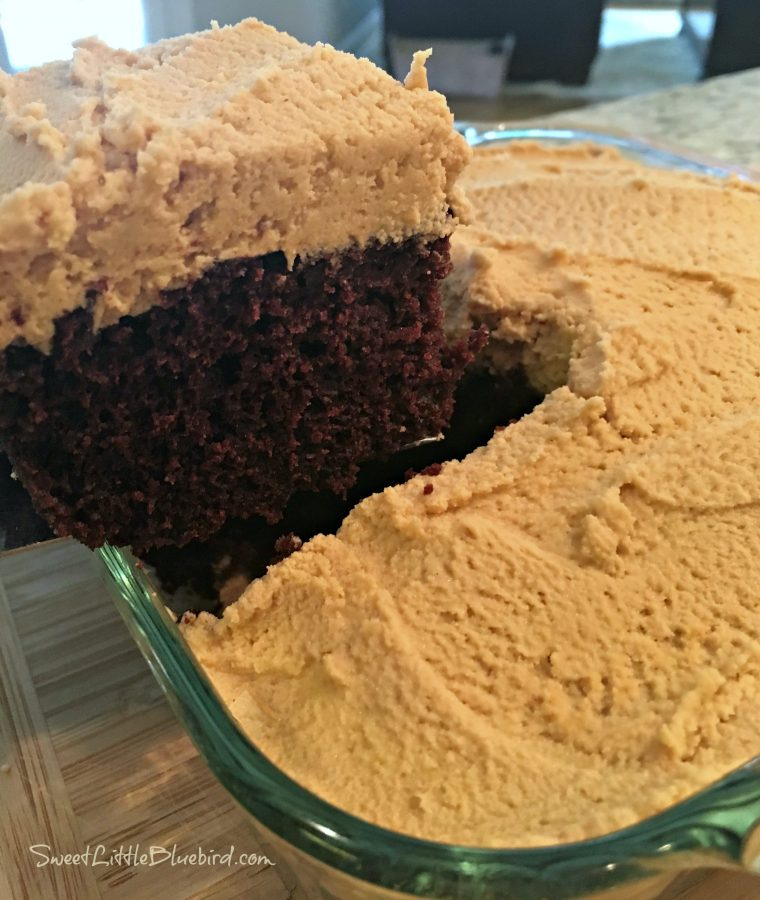 Chocolate Peanut Butter Crazy Cake - Sweet Little Bluebird