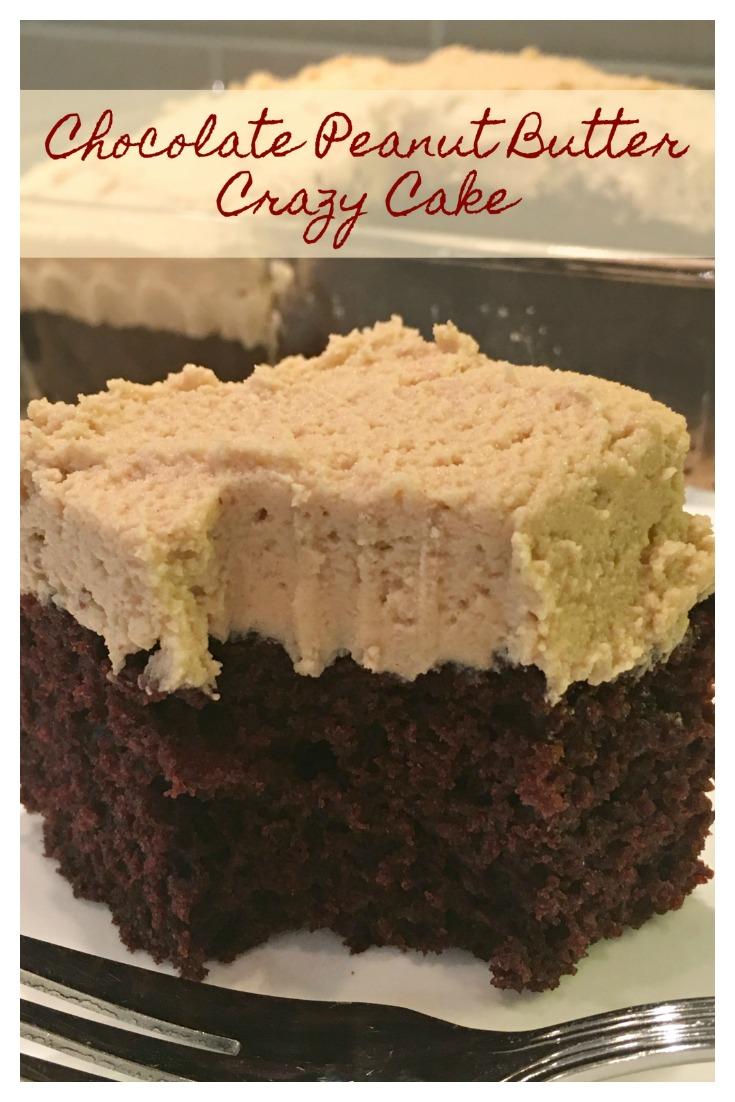 Chocolate Peanut Butter Crazy Cake