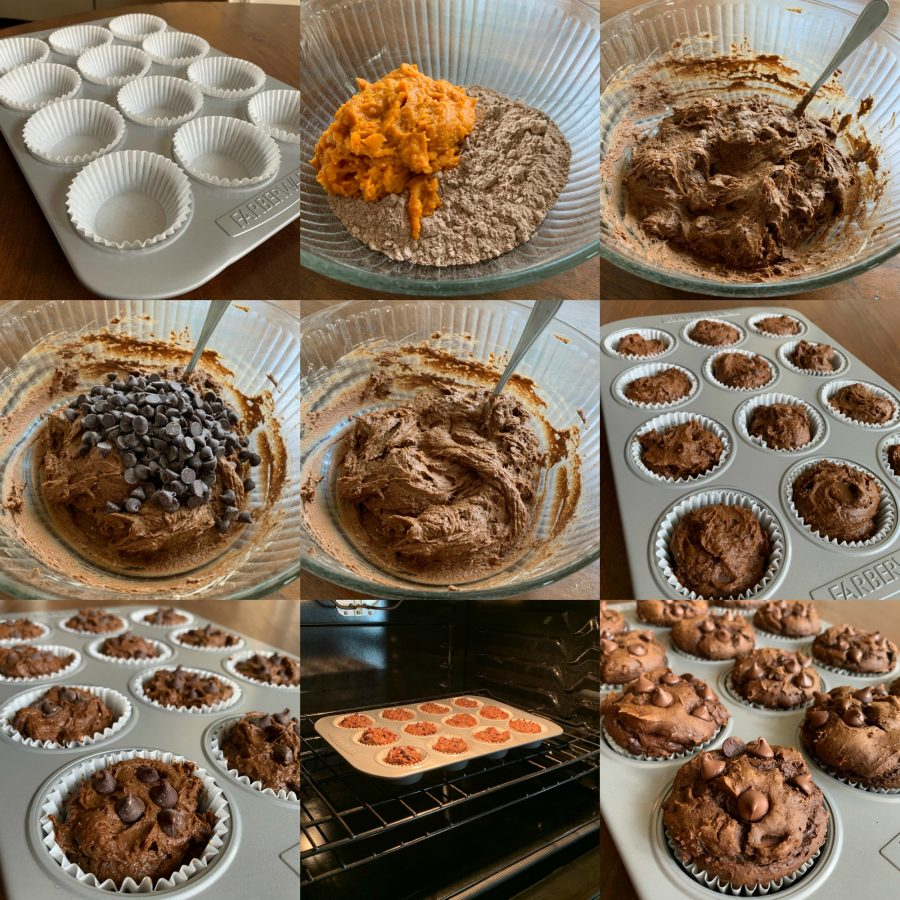 CHOCOLATE PUMPKIN MUFFINS TUTORIAL