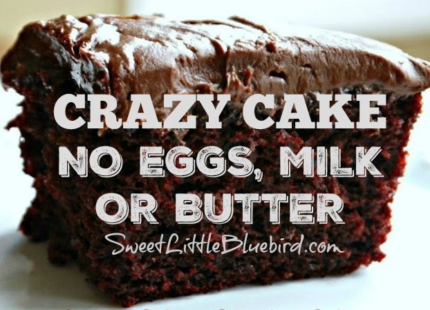 Chocolate Crazy Cake - Also Known as Wacky Cake, Depression Cake and War Cake