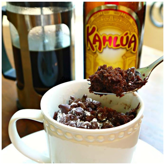 Coffee & Kahlua Crazy Cake in a Mug