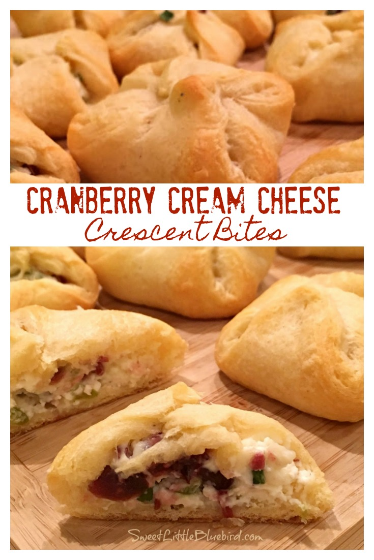 Cranberry Cream Cheese Crescent Bites from Sweet Little Bluebird