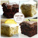 Chocolate Crazy Cake (No Eggs, Milk, Butter or Bowls)