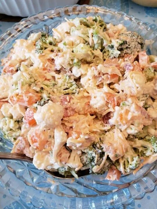 Creamy Broccoli Cauliflower Salad by My Productive Backyard