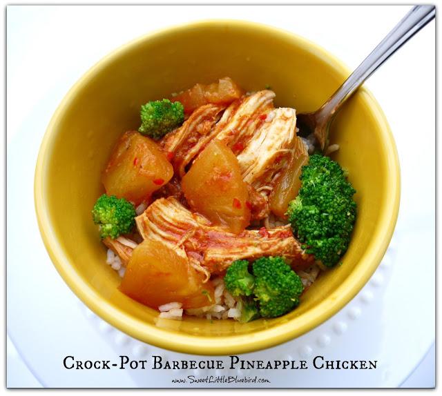 Crock Pot Barbecue Pineapple Chicken (Hawaiian Chicken)