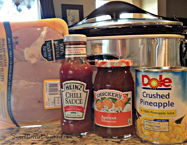 Crock Pot Sweet and Sour Chicken - Only 4 Ingredients