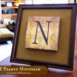 DIY Framed Monograms ~ Inspiration Cafe