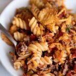 Crunchy Beefy Casserole – Weekend Potluck 484