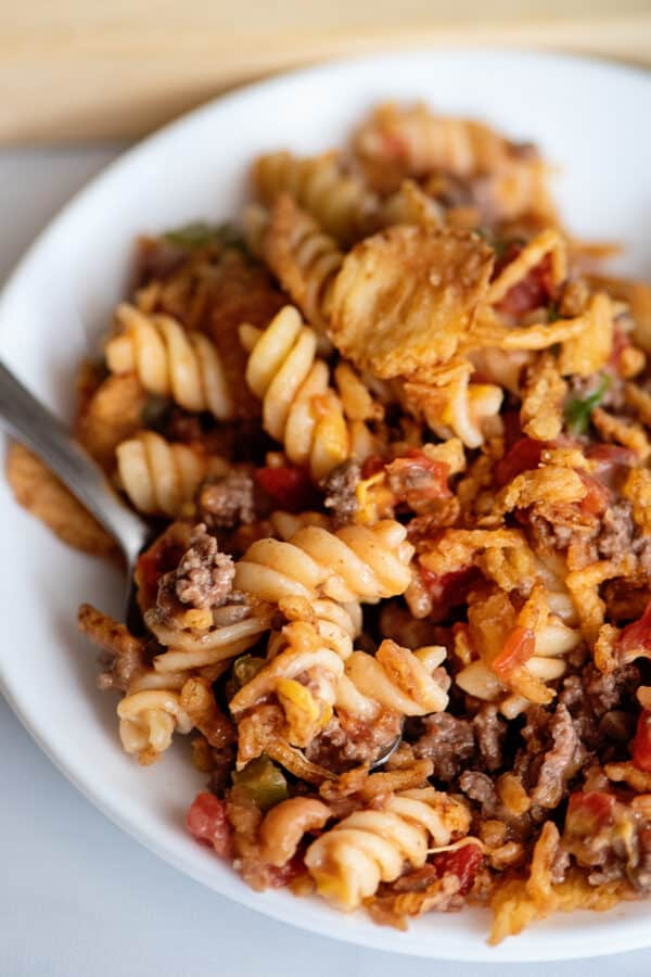 Crunchy Beef Casserole by Southern Plate - Weekend Potluck 484