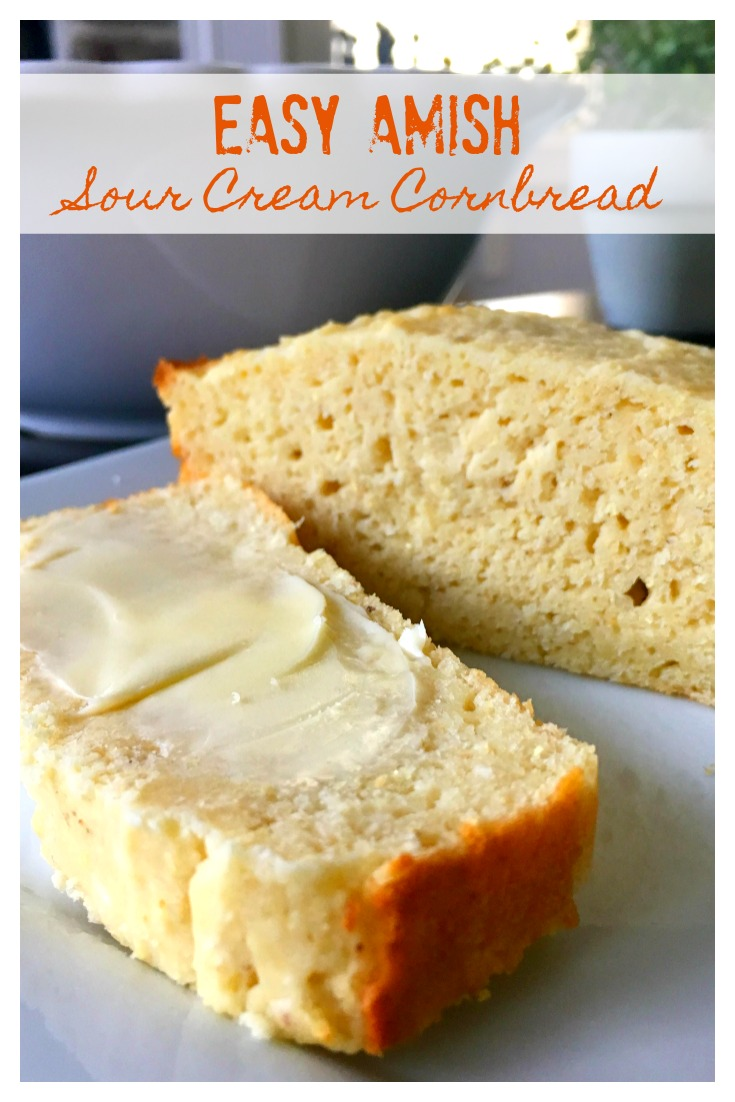 Easy Amish Sour Cream Cornbread from Scratch