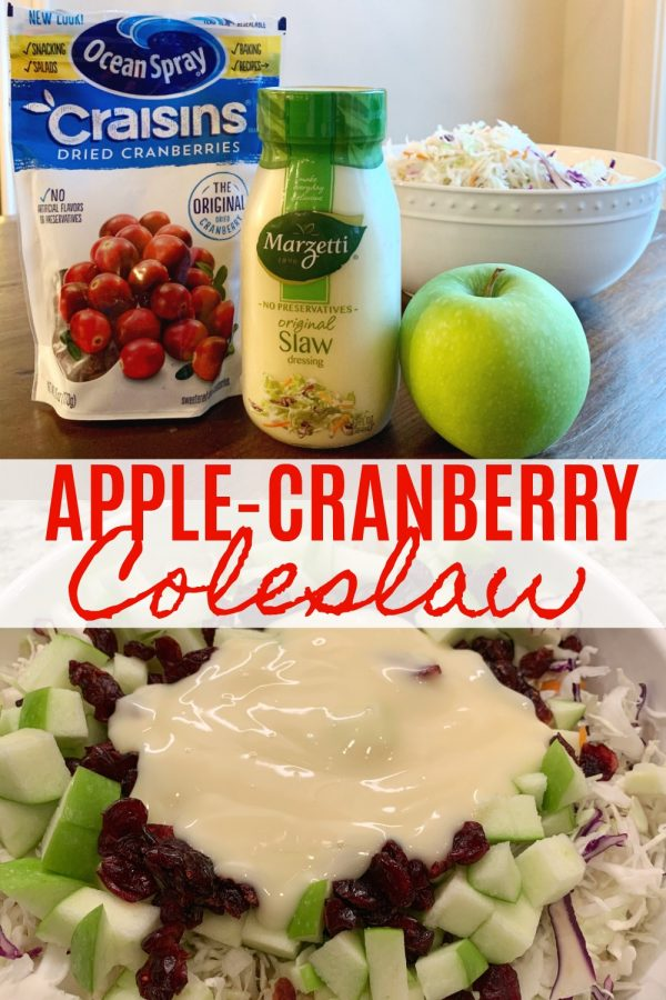 Apple-Cranberry Coleslaw (4 Ingredients)