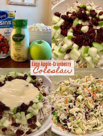 Easy Apple-Cranberry Coleslaw