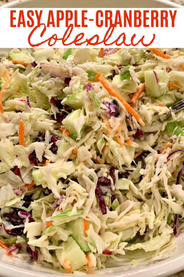 Easy Apple-Cranberry Coleslaw