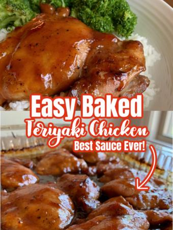 EASY BAKED TERIYAKI CHICKEN - Best Sauce Ever