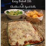 Easy Baked Ziti and Cheddar Cheese Pull Apart Rolls