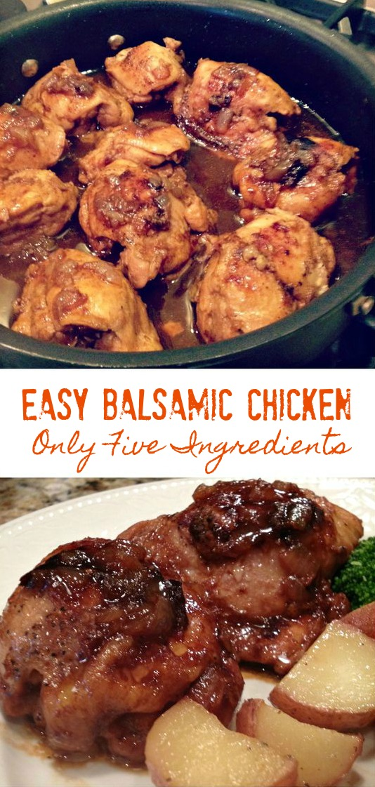 EASY BALSAMIC CHICKEN (ONLY 5 INGREDIENTS) - Sweet Little Bluebird