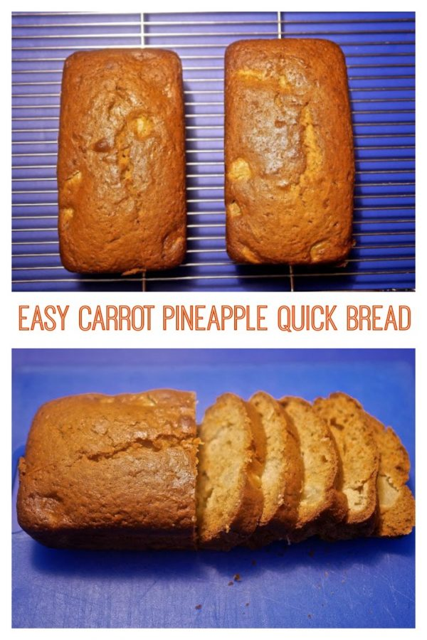 Easy Carrot Pineapple Quick Bread