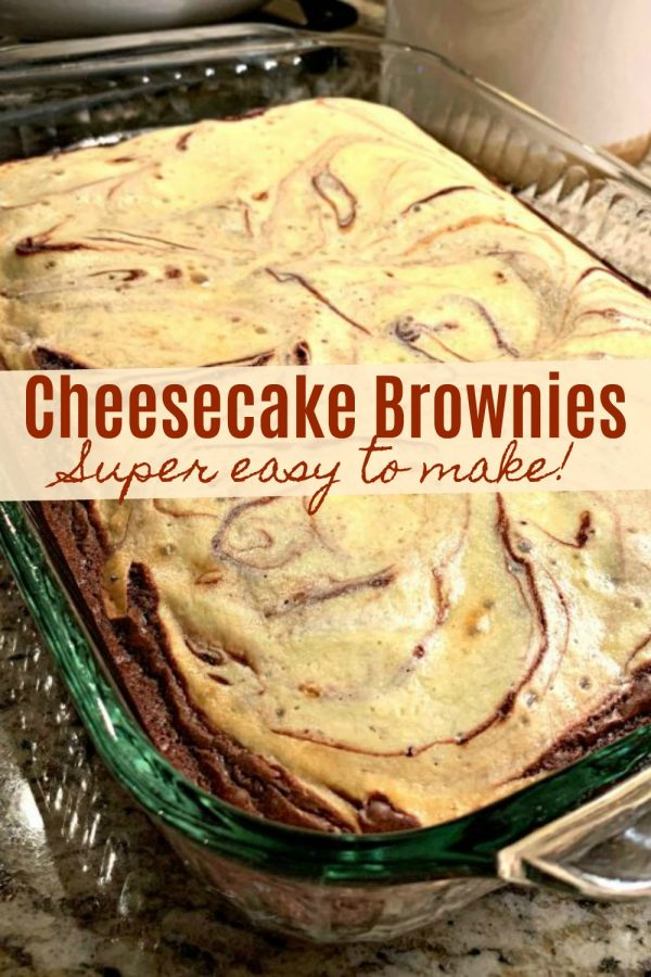 EASY CHEESECAKE BROWNIES - Sweet Little Bluebird