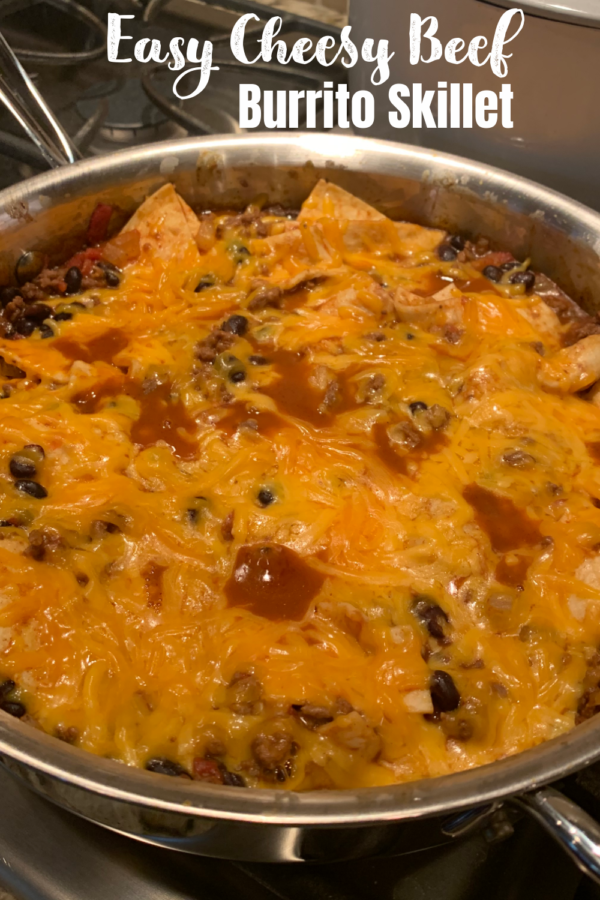 Easy Cheesy Beef Burrito Skillet