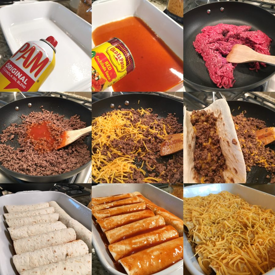 Easy Cheesy Beef Enchiladas 4 Ingredients Sweet Little Bluebird