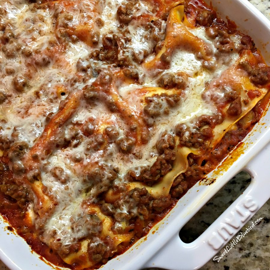 Quick And Easy Lasagna Sweet Little Bluebird