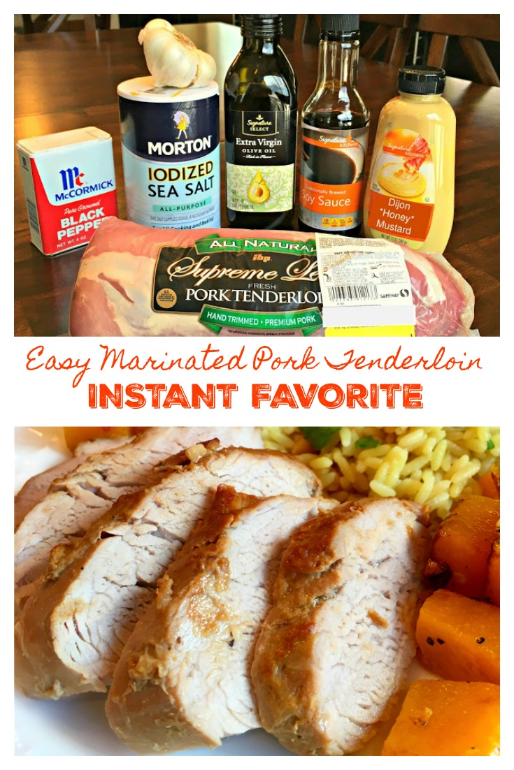 EASY MARINATED PORK TENDERLOIN - Sweet Little Bluebird