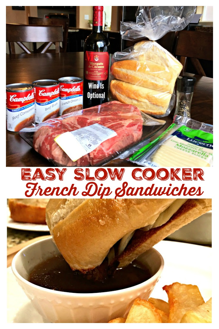 Easy Slow Cooker French Dip Sandwiches from Sweet Little Bluebird