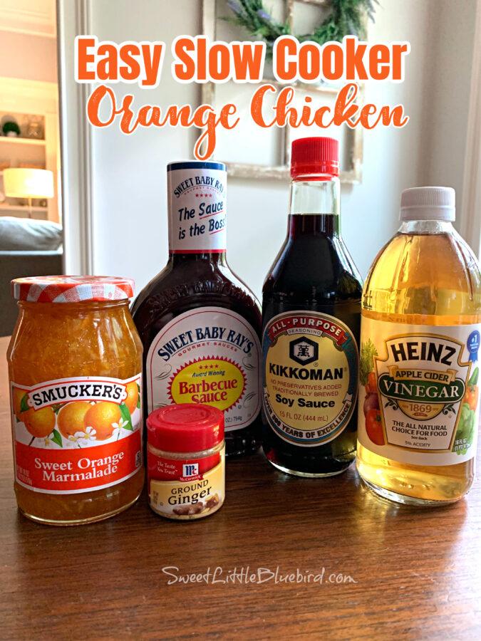 Easy Slow Cooker Orange Chicken Ingredients